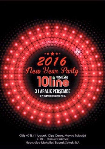 10line Bar Yılbaşı Programı 2016