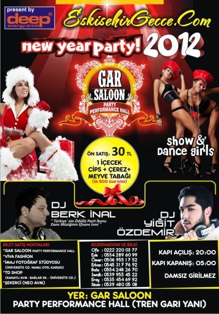 Gar Saloon Party Performance Hall 2012 Yılbaşı Programı