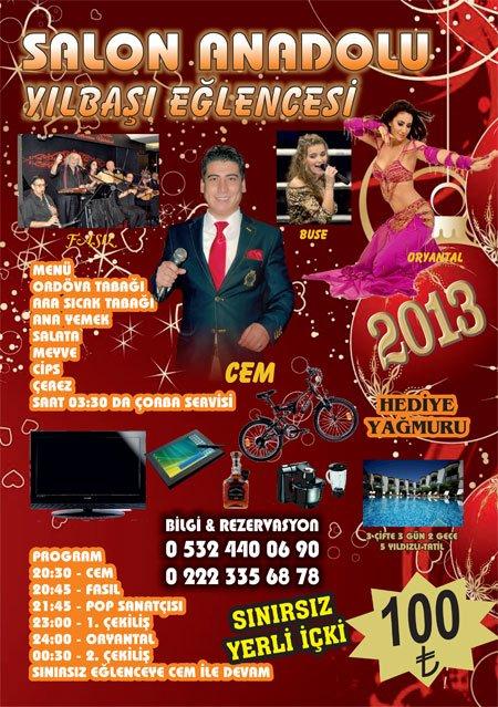Salon Anadolu 2013 Yılbaşı Programı