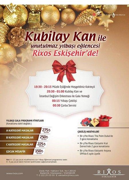 Rixos Eskişehir 2015 Yılbaşı Programı