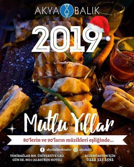 Akya Balık Eskişehir Yılbaşı Yemeği 2019