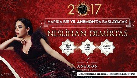 Anemon Otel Yılbaşı Programı 2017 Eskişehir