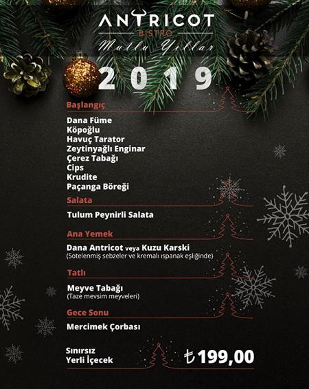 Antricot Bistro Yılbaşı Programı 2019