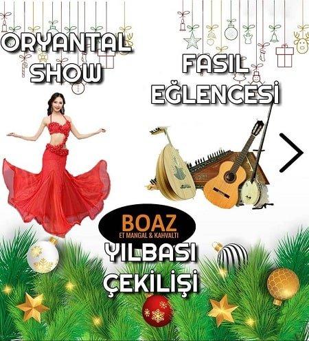Boaz Et Mangal Eskişehir Yılbaşı Programı