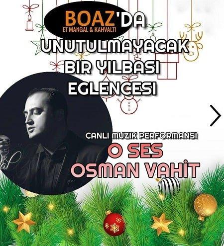Boaz Et Mangal Yılbaşı Programı 2019