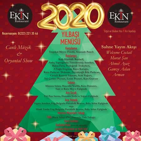 Ekin Restaurant Eskişehir Yılbaşı Programı 2020