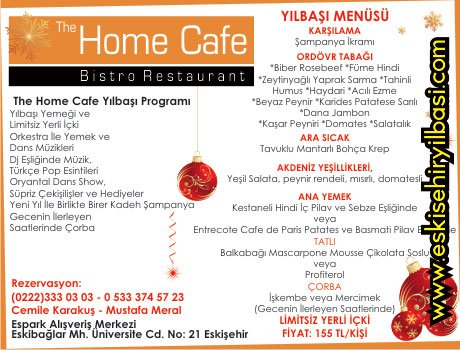 The Home Cafe 2011 Yılbaşı Programı